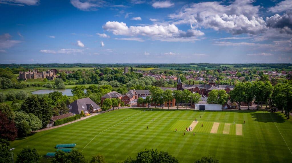 Framlingham College cricket pitches