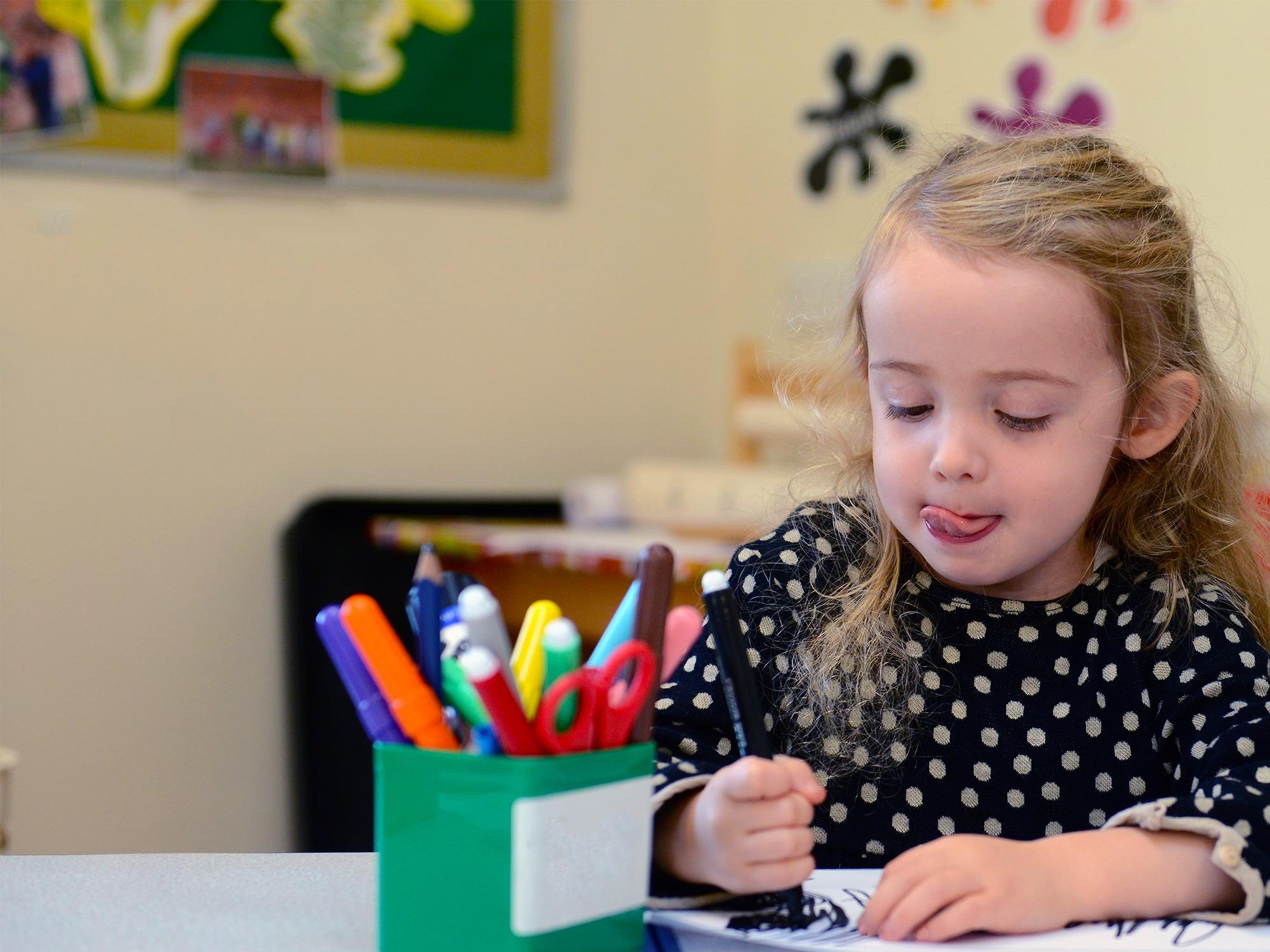 Nursery pupil drawing