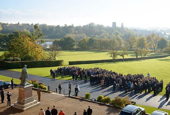 Framlingham College falls silent to mark Armistice Day